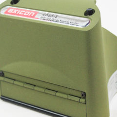 Axicon 6525 barcode verifier left facing close up of front of verifier