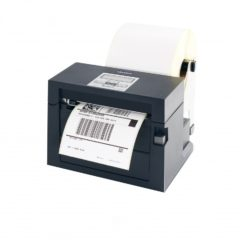 Citizen CL S400 Desktop Label Printer Left Facing With Label