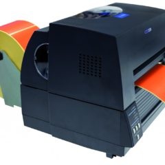 Citizen CL S621 Desktop Label Printer With Media Attached