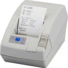 Citizen CT S281 Receipt Printer white left facing with receipt