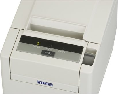 Citizen CT S601II Mid Range Pos Printer Control Panel white