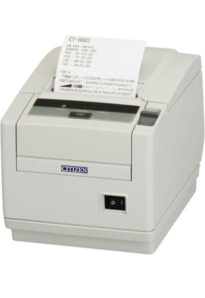 Citizen CT S601II Mid Range Pos Printer Left Facing With Receipt