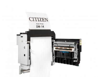 Citizen DW14 Thermal Kiosk Printer back open paper roll showing