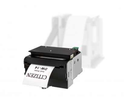 Citizen DW14 Thermal Kiosk Printer horizontal position paper coming out of paper tray