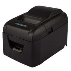 Metapace T25 receipt printer for desktops black colour facing left