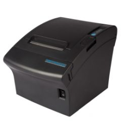 Metapace T3 receipt printer in black facing left