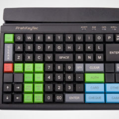 PrehKeyTech MCI84 pos keyboard Flat From Above