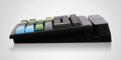 PrehKeyTech MCI84 pos keyboard Flat Side On