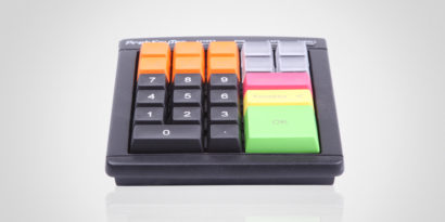 PrehKeyTech MCi30 POS Keyboard Front Facing programmable