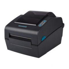 Metapace L 42d Direct Thermal Label Printer facing left black colour
