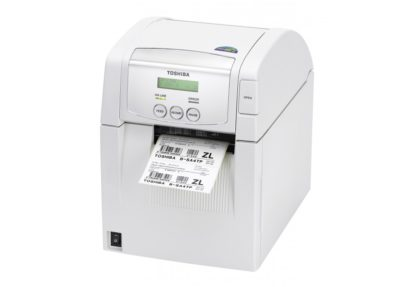 Toshiba Tec B SA4TP Desktop Label Printer white, facing left