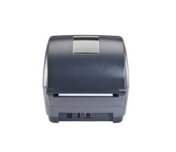 Honeywell PC43D Desktop Label Printer from behind