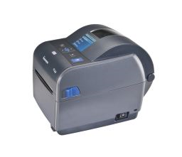 Honeywell PC43D Desktop Label Printer left facing