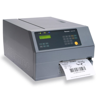 Honeywell PX6i Industrial Label Printer right facing with paper large version