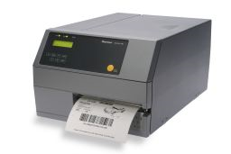 Honeywell PX6i Industrial Label Printer left facing with paper