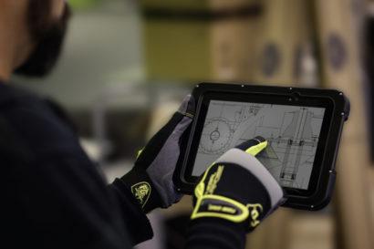 Zebra ET5055 Enterprise Tablet PC in use