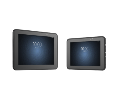 Zebra ET5055 Enterprise Tablet PC two side by side