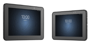 Zebra ET5055 Enterprise Tablet PC two side by side close up