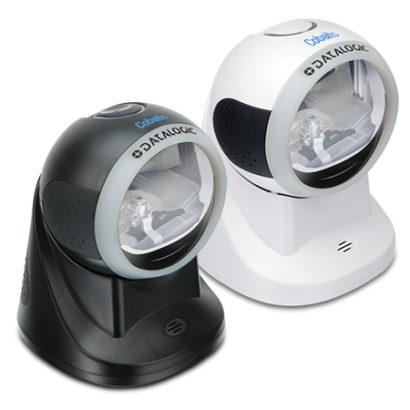 Datalogic Cobalto™ CO5300 Omnidirectional Presentation Laser Scanner white and black right facing