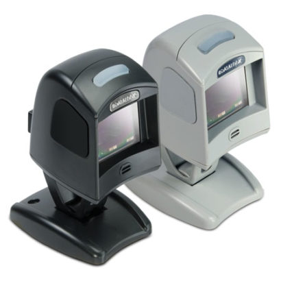 Datalogic Magellan™ 1100i Omnidirectional Bar Code Scanner black and white facing right