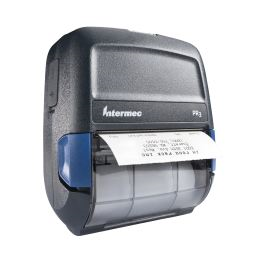 Honeywell PR3 Portable Receipt Printer right facing with receipt