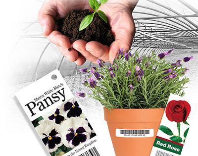 Horticulture application label landing page