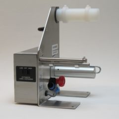 Labelmate LD 100 RS SS Label Dispenser side on grey