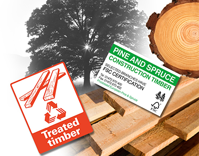 Lumber application label landing page