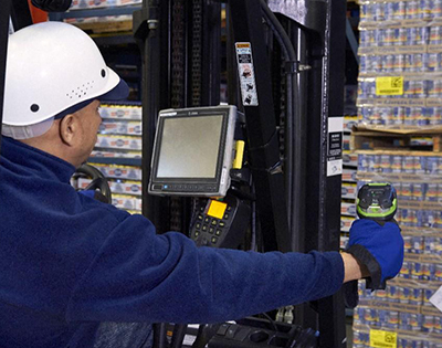Industrial Barcode Scanner landing page