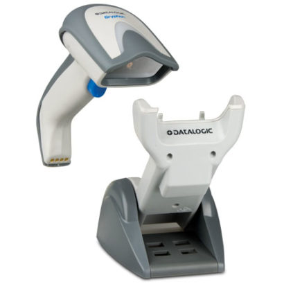 Datalogic Gryphon I GM4100 Linear Imager Barcode Scanner white facing right