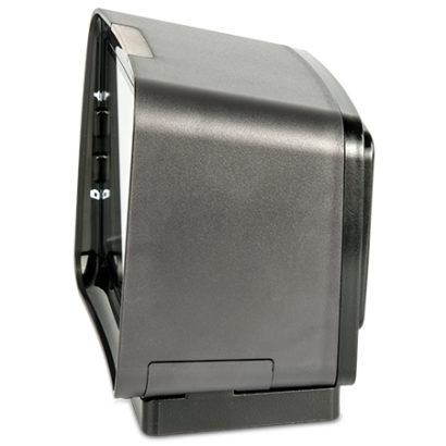 Datalogic Magellan™ 3450VSi On Counter High Performance Bar Code Scanner left facing on stand