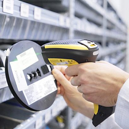 Datalogic PowerScan PBT9100 1D Industrial Barcode Scanner scanning