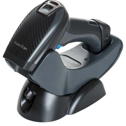 Datalogic PowerScan PD9500 Retail Area Barcode Scanner Black In Cradle