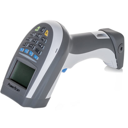 PowerScan PM9500 Barcode Scanner White Facing Left