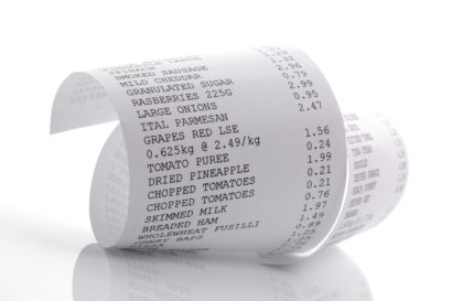 SECONDARY LABEL PAGE Till Rolls Receipt Paper